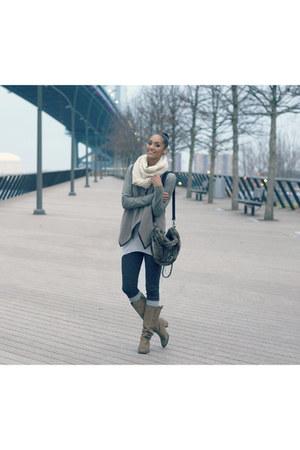 Steve Madden boots - Helmut Lang jacket - Now I Style leggings - Zara bag