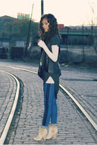 nino brand top - Enza Costa top - Matt Bernson shoes - mother jeans