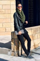infinity knit paula bianco scarf - skinny Current Elliott jeans