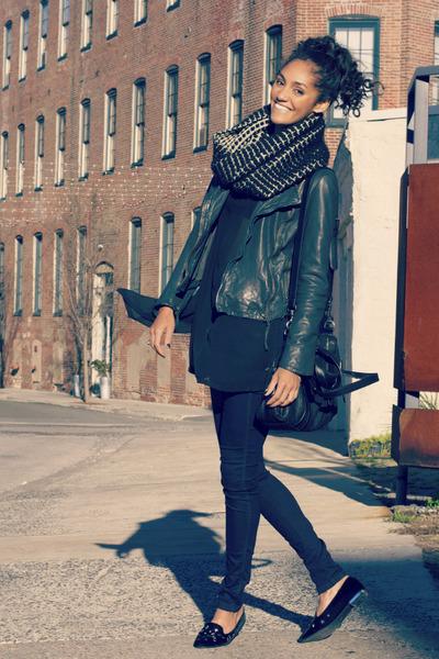 Zara scarf - Now I Style shoes - G-Star jeans - Muubaa jacket