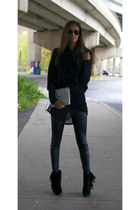 Helmut Lang sweater - Jeffrey Campbell boots - BB Dakota blazer
