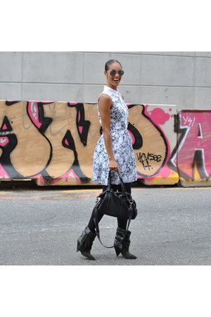 kensie dress - ISABEL MARANT POUR H&M boots - silkies tights