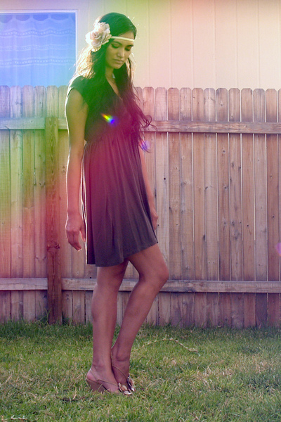 forever 21 dress - Carlos Santana shoes - HEB accessories