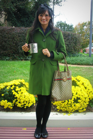 JLo coat - Gucci purse - American Eagle shoes - lulu accessories - Xhileration t