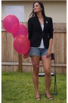 blazer - Old Navy shirt - Billabong shorts - isaac mizrahi shoes