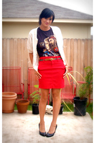Buffalo Exchange t-shirt - Tommy Jeans skirt - Gap sweater - Louboutin shoes - s