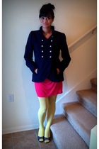 BB Dakota jacket - Old Navy tights - Laura Dahl dress - michael shannon shoes