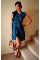 buffalo exchange dress - Goodwill purse - Highlights shoes - Charlotte Russe acc