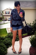 victor costa blazer - Forever 21 shorts - Victoria Spencer shoes - marshalls pur
