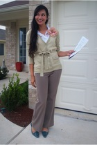 cris sweater - Goodies pants - Alfani shoes - buffalo exchange blouse