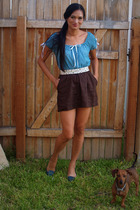 banana republic top - Old Navy skirt - Target belt - Alfani shoes