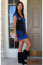 Wet Seal dress - vest - Rue 21 boots