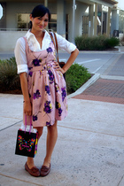 BB Dakota dress - Dexter shoes - NY&CO blouse - LV purse