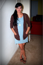 American Apparel sweater - Forever 21 dress - grandma necklace - Buffalo Exchang