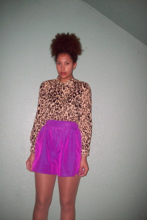 leopard print H&M blouse