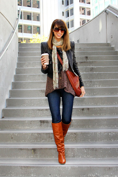 burnt orange restricted boots - navy AG Adriano Goldschmied jeans