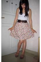 jeleprutt skirt - Topshop blouse - Zara shoes