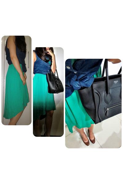 Topshop top - Forever 21 dress - Celine bag - YSL pumps