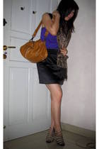 Zara blouse - made by tailor skirt - batik keris scarf - mango bag accessories -
