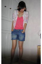 Mango top - Mango sweater - far east shorts - Topshop earrings