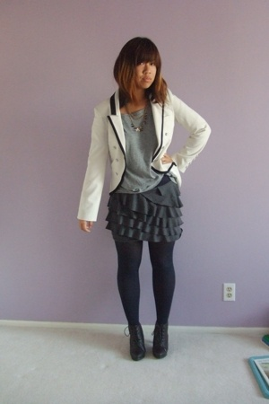 blazer - Gap shirt - forever 21 skirt - Simply Vera by Vera Wang tights - foreve