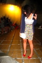 thrifted skirt - top - Zara jacket - Lewre shoes - Mango purse - vintage belt
