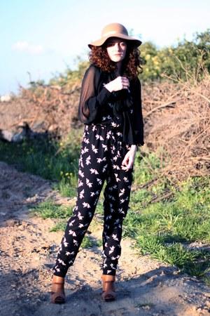 black H&M blouse