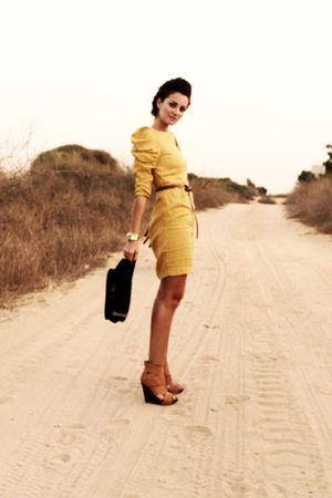 gold H&M dress