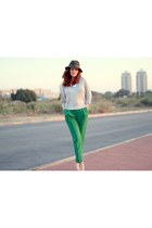 green pants H&M pants