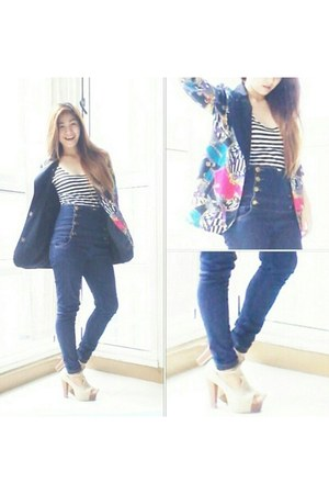 bestfindsthriftshop blazer - WAGW top - Robinsons pants - AsianVogue heels
