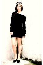 black BESTFINDS THRIFTSHOP shoes - black BESTFINDS THRIFTSHOP dress - silver by