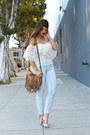 Light-blue-high-waisted-h-m-jeans-burnt-orange-charlotte-russe-bag