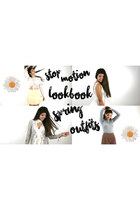 STOP MOTION LOOKBOOK: Spring Outfits