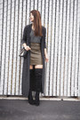 Black-calvin-klein-boots-dark-brown-crossbody-zara-bag