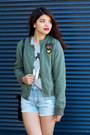 Heather-gray-aeropostale-top-army-green-bomber-aeropostale-jacket