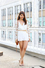 Ivory-lace-floral-pop-cherry-romper-tawny-mini-mac-rebecca-minkoff-bag