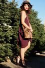 Maroon-belle-fig-color-last-night-dress-camel-target-coat