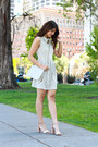 Heather-gray-others-follow-dress-ivory-vintage-chanel-bag