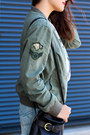 Army-green-bomber-aeropostale-jacket-black-thrifted-coach-bag