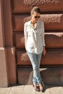 Brown-h-m-jeans-brown-ray-ban-sunglasses-eggshell-zara-necklace