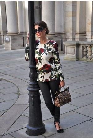 black Claudia Obert shoes - black Oakwood leggings - mustard Dolce & Gabbana bag
