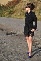 philipp plein coat - Juma bag - roberto cavalli glasses - Nelly heels
