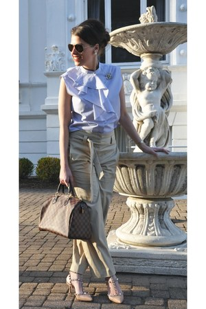 tan ANTONELLI Firenze pants - brown Louis Vuitton bag