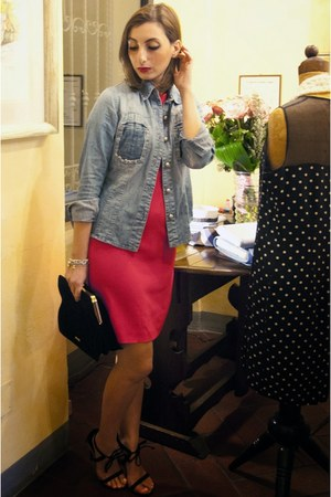Zara dress - dondup blazer - Miu Miu bag