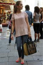 Celine bag - Zara jeans - Miu Miu shirt - Repetto flats