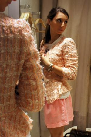 Zara blazer - happiness shirt - Zara skirt