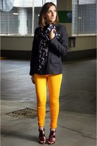 cycle jeans - Gucci scarf - Topshop heels