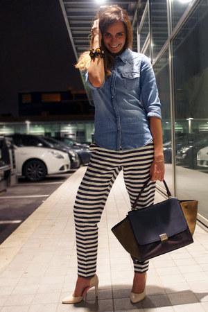 Celine bag - H&M shirt - Jcrew pants - H&M heels