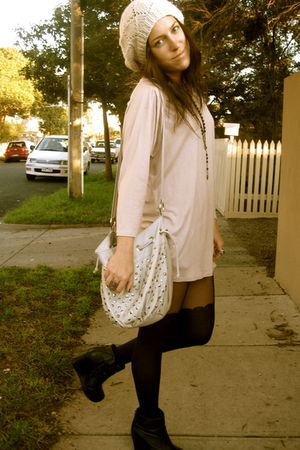 pink Witchery top - black Jeffrey Campbell shoes
