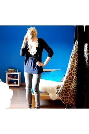 Cheap Monday pants - H&M shoes - H&M dress - belt - sweater